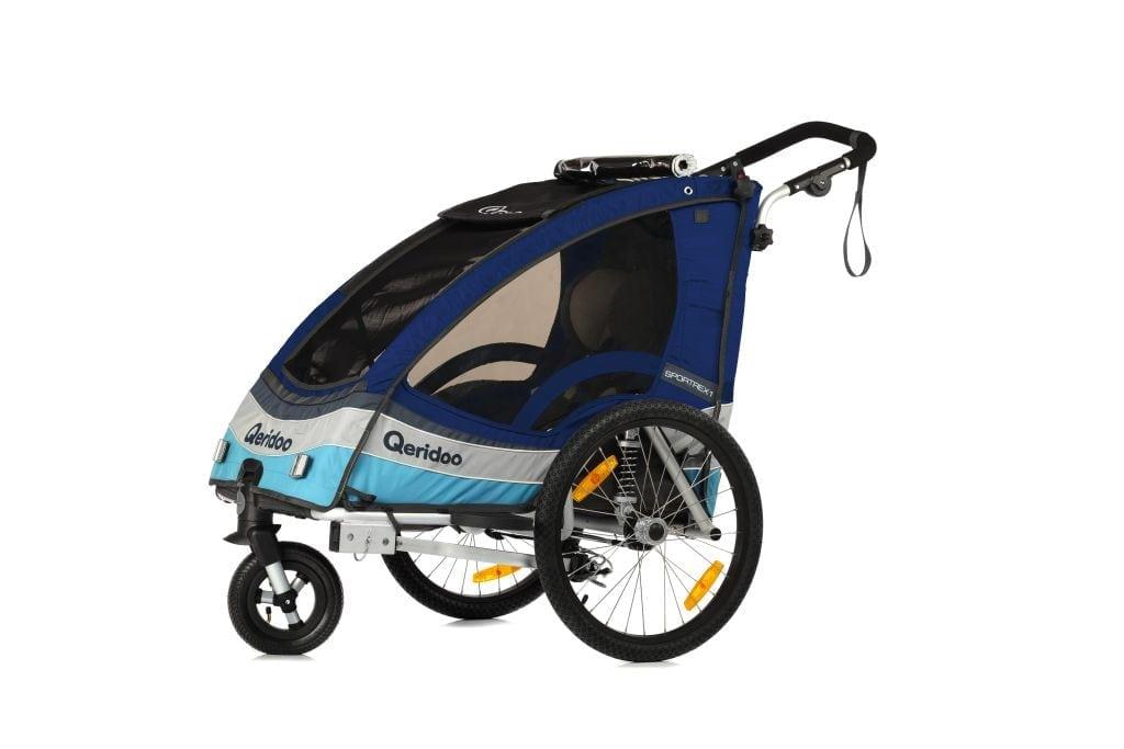 Wypożyczalnia przyczepek rowerowych da dzieci Qeridoo