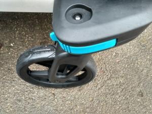 test przyczepki Thule Sport - Kółka wózkowe w Thule