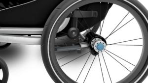 Thule lite 2 amortyzacja - Wypożyczalnia przyczepek rowerowych Itinere