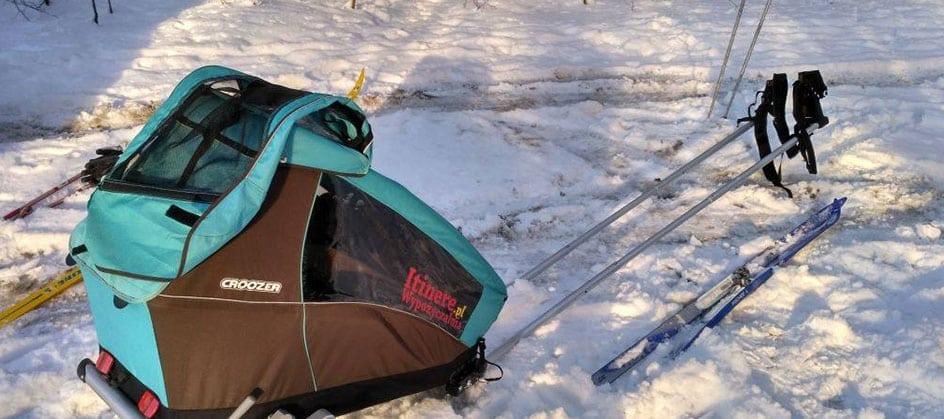 Zestawu Croozer Ski w akcji