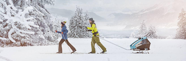 Croozer Ski zmieni rowerową przyczepkę Croozera w przyczepkę na płozach