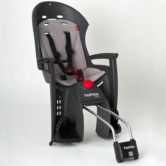 Fotelik rowerowy Hamax siesta dostępny w wypożyczalni Itinere