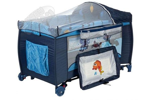 Łóżeczko turystyczne z przewijakiem dla noworodka