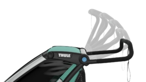 Thule lite 2 rączka- Wypożyczalnia przyczepek rowerowych Itinere