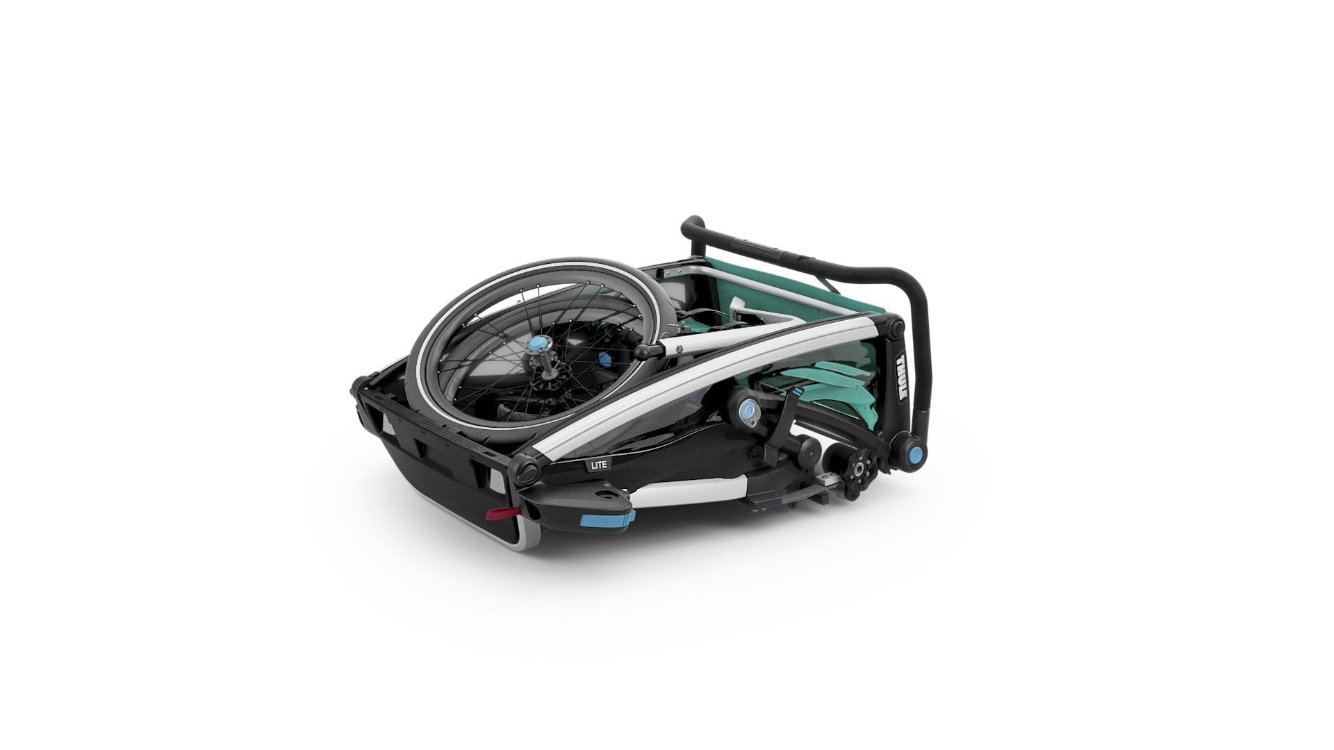 Thule lite 2 złożona - Wypożyczalnia przyczepek rowerowych Itinere