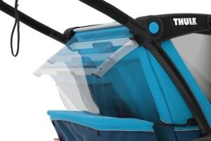 Regulowane oparcie w przyczepce do roweru dla dziecka Thule Cross
