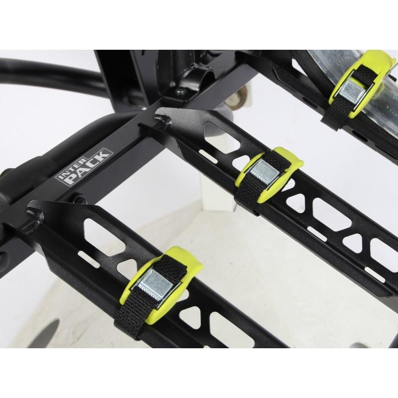 Punkty zapięcia kół roweru w bagażniku na hak Interpack Quattro