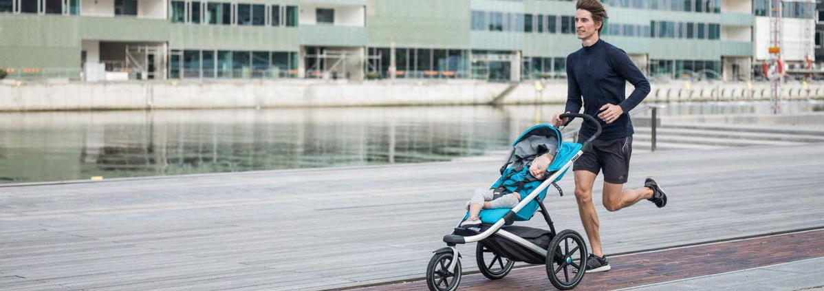 Wózek do biegania z dzieckiem dostępny w wypożyczalni Itinere
